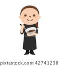 ภาพประกอบของเด็กผู้หญิงคนหนึ่งที่ทำงานช็อคโกแลตพิเศษช็อคโกแลต 42741238