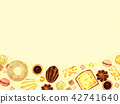 Background of baked goods 42741640