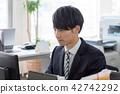 工作的企業形象PC人 42742292