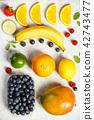 Flat-lay of organic fruits 42743477