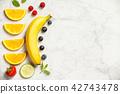 Flat-lay of organic fruits 42743478