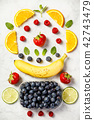 Flat-lay of organic fruits 42743479