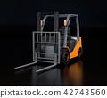 電鏟車的圖像在黑色後面的 42743560