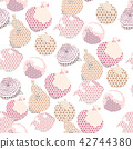 Onion and Shallots pattern vector. Vegetables 42744380