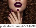 Manicure, make-up, woman 42744690