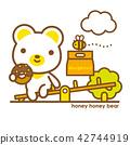 熊 甜甜圈 蜜蜂 42744919