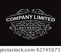 Antique label typography vintage frame logo design 42745073