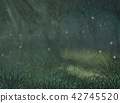 Enchanted forest copy space background. Enchanted forest copy space background for text 42745520