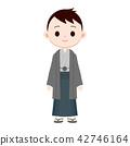 Male Kimono in a hakama · haori 42746164