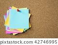 collection of colorful variety post it. paper note 42746995