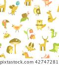 seamless pattern of animals 42747281