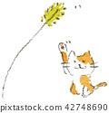 green foxtail, green bristlegrass, cat 42748690