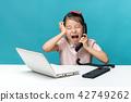 兒童,女孩,孩子,電腦 42749262