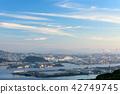 City View, cityscape, evening scene 42749745