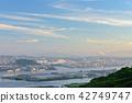 City View, cityscape, evening scene 42749747