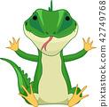 lizard, sit, sitting 42749768