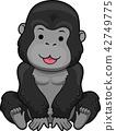 Gorilla Sit Illustration 42749775