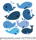 whale vector collection design 42750136
