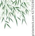 Bamboo green leaf 42750280