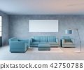 3d rendering of new loft living room with sofa 42750788