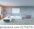3d rendering of loft living room with mock up idea 42750791