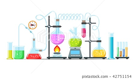 Chemistry lab equipment - Stock Illustration [42751154] - PIXTA