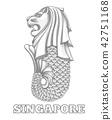 Singapore merlion icon 42751168