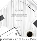 desk, coffee, notebook 42753542