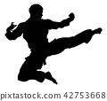 kick, silhouette, kicking 42753668