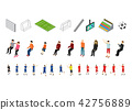 Soccer Icons Set Sport Game Isometric View. Vector 42756889