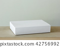 blank white cardboard package box mockup 42756992