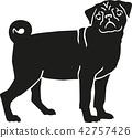 pug, dog, pet 42757426