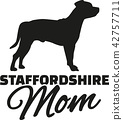 staffordshire, terrier, silhouette 42757711