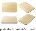 Wooden Cutting Board on A White Background 42758641
