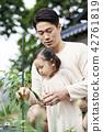 家庭花园,家庭,韩国 42761819