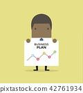 African businessman shows a business plan. 42761934