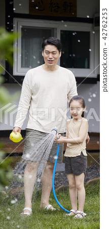 生活,房子,花園,家庭,韓國 42762253