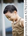 남자, 미소, 어린이 42762304