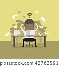 Busy time of African businessman in hard working. 42762591