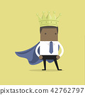 African businessman wearing a crown. 42762797