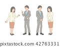논의 정장 차림의 남성과 여성 42763331