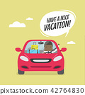 Joyful African businessman traveling by car. 42764830