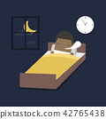 African businessman is sleeping on the bed. 42765438