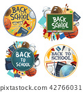 Back to school education stationery vector posters 42766031