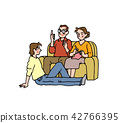 ครอบครัวใช้เวลาอยู่บนโซฟา 42766395
