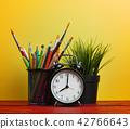 Alarm Clock, Plant and School Stationary 42766643