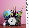 World Globe, Alarm Clock, and School Stationary 42766650