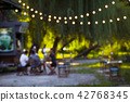 Cafe exterior out of focus - defocused background. 42768345