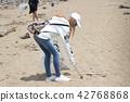 海洋废弃物 女孩净滩 42768868