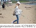 海洋废弃物 女孩净滩 42768872